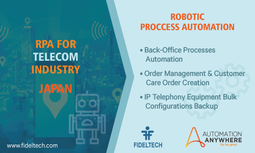 Robotic Process Automation (rpa) Solution for Telecom Companies, Japan